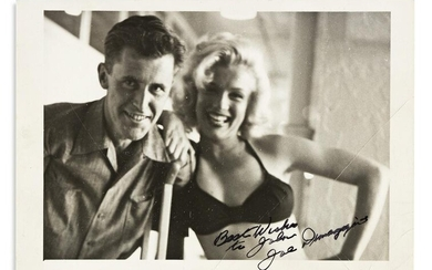 """DIMAGGIO, JOE. Photograph Signed and inscribed, """"Best"""