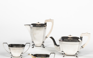 English Four-piece Sterling Silver Tea and Coffee Service