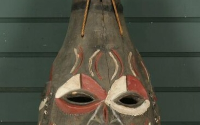Ethnographic Carved and Painted 3 Face Mask