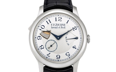 F.P. Journe | Répétition Minutes Souveraine, A stainless steel minute repeating wristwatch with power reserve indication, Circa 2011 | Répétition Minutes Souveraine 精鋼三問腕錶,備動力儲備顯示,約2011年製