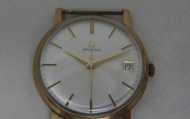 Gentleman's 9ct Gold OMEGA Wristwatch with Date Aperture & S...