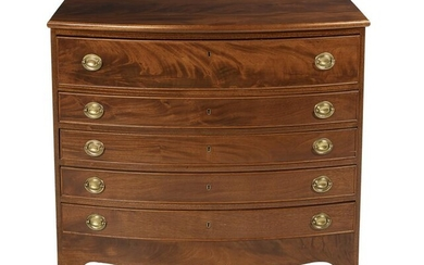 George III-Style Mahogany Bowfront Butler's Chest