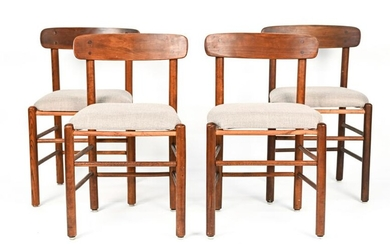 (4) SIDE CHAIRS IN THE MANNER OF BORGE MOGENSEN