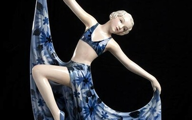 JOSEF LORENZL Ballerina Earthenware shaped as slip casting and decorated...