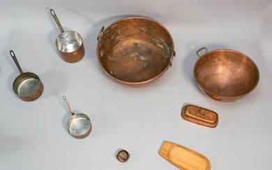 Lot of French Copper Kitchenware