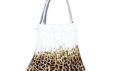 Murano Glass Vase Modeled as a Purse.