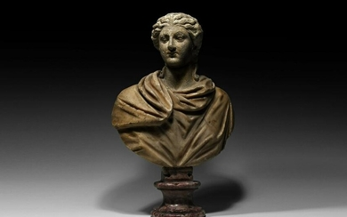 Roman Drapery with Later Head and Base