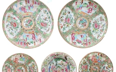 Selection of 19th century Chinese Canton famille rose porcel...