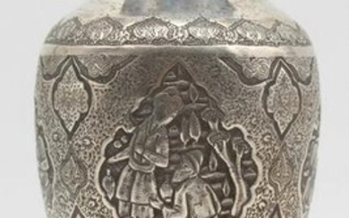 Vase, silver. Probably Isfahan, Iran. Old.