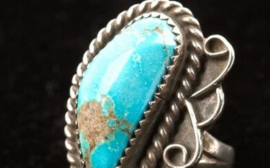 Vintage Navajo Turquoise & Sterling Silver Ring