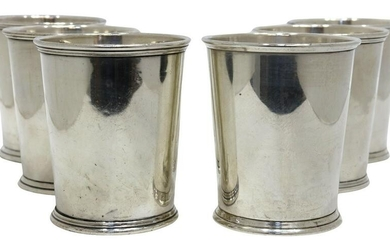 (6) S. KIRK & SON STERLING SILVER MINT JULEP CUPS