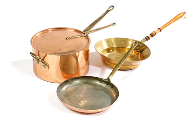 A COLLECTION OF COPPER AND BRASS WARE