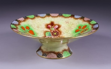 A Carlton Ware Pottery Bowl, 1930's, enamelled in colours...