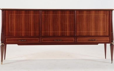 A FRENCH ROSEWOOD SIDEBOARD CIRCA 1960