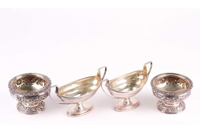 A matched pair of 19th century silver salts, London 1824 and...