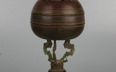 Antique Chinese Bronze Insence Burner with Xuande Mark
