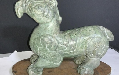 CHINESE JADE CARVED SCULPTURE of Mythical Creature