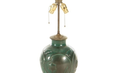 Chinese Style Pottery Vase Table Lamp, Early 20th Century and Adapted