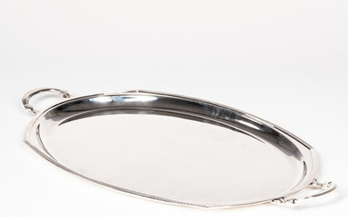 English Sterling Silver Oval Tray