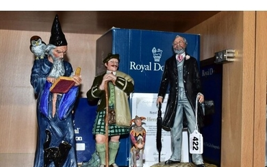 FOUR ROYAL DOULTON FIGURES, comprising boxed limited edition...