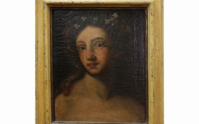 Female bust with flowers in her hair, Scuola toscana del XVII secolo