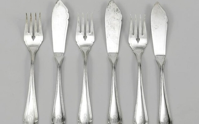 Fish cutlery for 18 persons, Germa