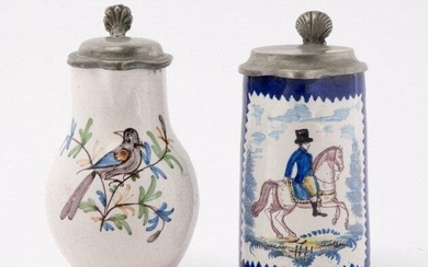 French Faience Jug & British Pitcher