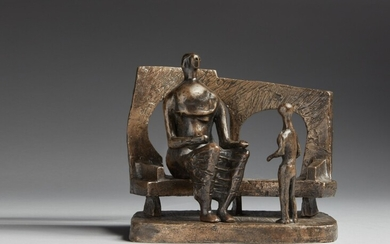 Henry Moore, Mother and Child Against Open Wall