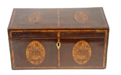 Inlaid English Tea Caddy