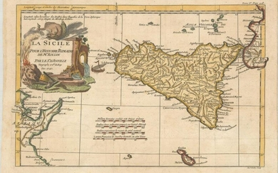 MAP, Sicily, Italy, Anville