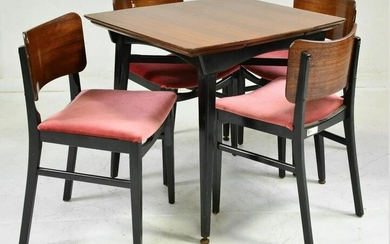 Mid Century Modern Table & 4 Chairs