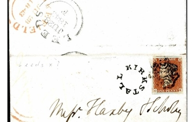 PLATE 26 - ON COVER WITH LEEDS SPECIAL (LARGE DIAMOND) CROSS...