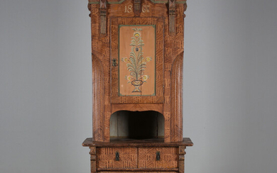 POPULAR CABINET, painted wood, bearing date 1867.