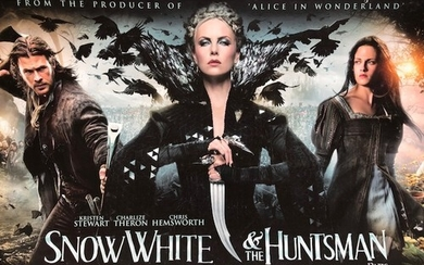 Snow White and The Huntsman, large film poster mounted on ca...