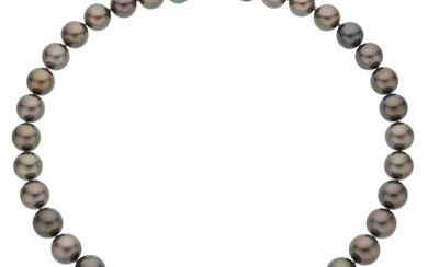 South Sea Cultured Pearl, Gold Necklace Pearls: South Sea...