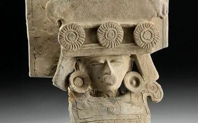 Teotihuacan Pottery Figural Incensario Lid w/ TL