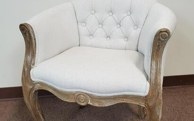 Tufted Barrel Chair