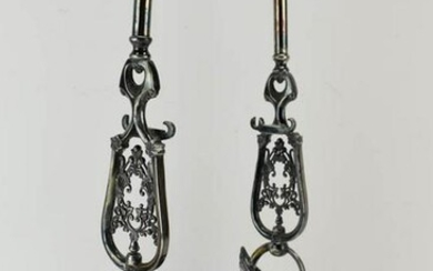 Victorian Silver Plated Long Handled Holder