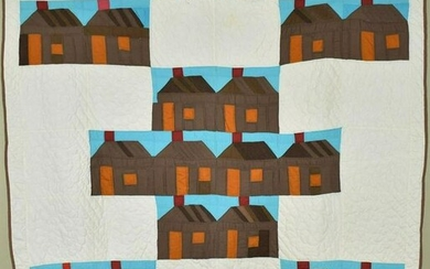 Well Quilted Mid Century Log House Quilt