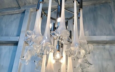 """70s chandelier with """"Calle"""" - Chandelier 70s Style Venini"""