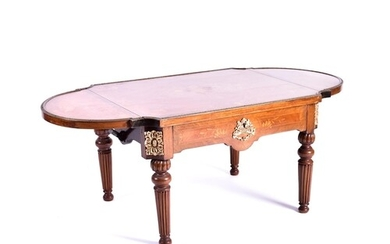 A French Louis XVstyle Kingwood and floral marquetry low two...