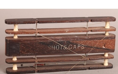A LATE 19TH/EARLY 20TH CENTURY ROSEWOOD FLOAT WINDER with bo...