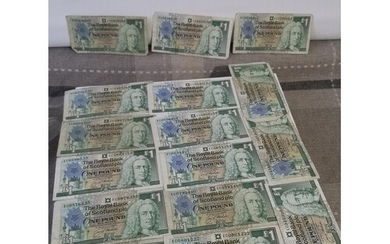 A LOT OF 30 THE ROYAL BANK OF SCOLTAND PLC ONE POUND BANK NO...