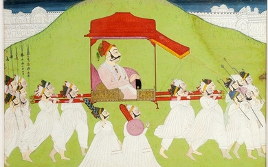 AN INDIAN MINIATURE PAINTING, RAJASTHAN 18TH CEN.