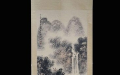 Chinese Ink Color Landscape Painting