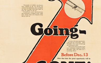 DESIGNER UNKNOWN GOING GOING GONE AVIATION SECTION SIG