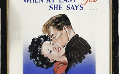 """ENGLISH SCHOOL (20th Century,), """"When at Last She Says"""