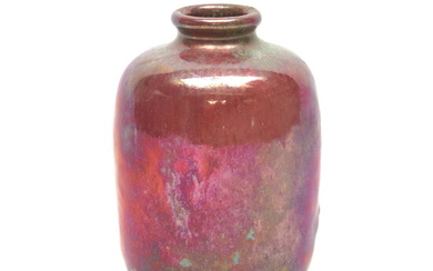 Earthenware vase decorated with lustre glaze, design & execution by...