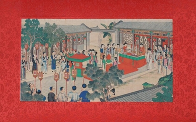 Fine Chinese Watercolor Painting of Figures
