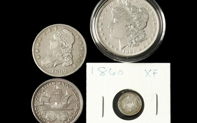 Four Attractive 19th Century Type Coins
